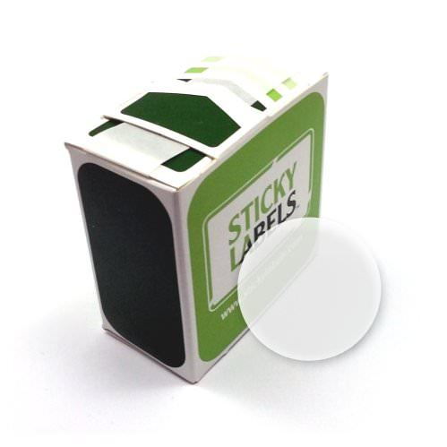 24mm Diameter Unprinted Clear Sealing Labels